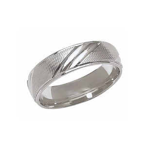 IMAGE OF 21-W888 WEDDING BANDS_WHITE GOLD SPECIAL DESIGN COMFORT FIT