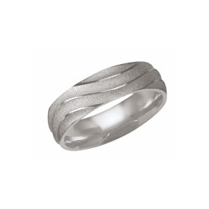 IMAGE OF 21-W891 WEDDING BANDS_WHITE GOLD SPECIAL DESIGN COMFORT FIT