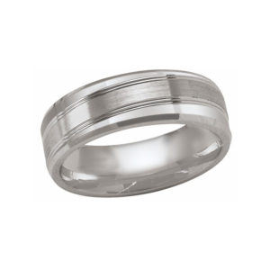 IMAGE OF 21-W893 WEDDING BANDS_WHITE GOLD SPECIAL DESIGN COMFORT FIT