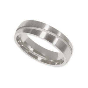 IMAGE OF 21-W896 WEDDING BANDS_WHITE GOLD SPECIAL DESIGN COMFORT FIT