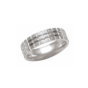 IMAGE OF 21-W898 WEDDING BANDS_WHITE GOLD SPECIAL DESIGN COMFORT FIT