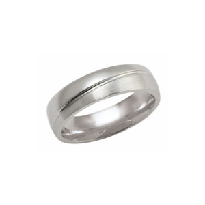 IMAGE OF 21-W899 WEDDING BANDS_WHITE GOLD SPECIAL DESIGN COMFORTFIT