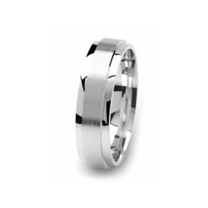 image of 21-W915 WEDDING BANDS_WHITE GOLD SPECIAL DESIGN COMFORT FIT