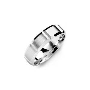 image of 21-W917 WEDDING BANDS_WHITE GOLD SPECIAL DESIGN COMFORT FIT