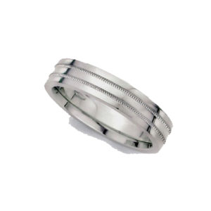 image of 21-W922 WEDDING BANDS_WHITE GOLD SPECIAL DESIGN COMFORT FIT_5MM
