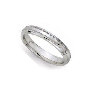 image of 21-W924 WEDDING BANDS_WHITE GOLD SPECIAL DESIGN COMFORT FIT_3MM WIDE