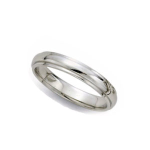 image of 21-W925 WEDDING BANDS_WHITE GOLD SPECIAL DESIGN COMFORT FIT-3MM WIDE
