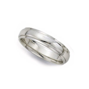 IMAGE OF 21-W926 WEDDING BANDS_WHITE GOLD SPECIAL DESIGN COMFORT FIT-4MM WIDE