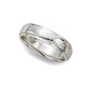 IMAGE OF 21-W927 WEDDING BANDS_WHITE GOLD SPECIAL DESIGN COMFORT FIT-5MM WIDE