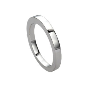 IMAGE OF 21-W929 WEDDING BANDS_WHITE GOLD SPECIAL DESIGN COMFORT FIT_2MM WIDE
