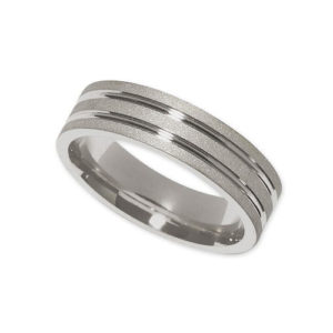 IMAGE OF 21-W930 WEDDING BANDS_WHITE GOLD SPECIAL DESIGN COMFORT FIT