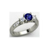 IMAGE OF 31-988 LADIES STONE RINGS_ENGAGEMENT STYLE SAPPHIRE AND DIAMOND RING