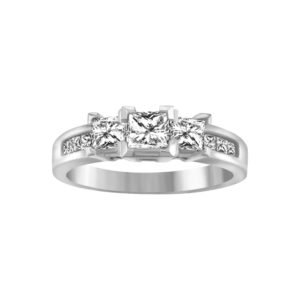image of 31-AD12 ENGAGEMENT RINGS_TRINITY PRINCESS CUT DIAMOND RING