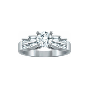 IMAGE OF 31-AD5565 ENGAGEMENT RINGS_ENGAGING RING WITH SIDE DIAMONDS ROUND CUT CENTER DIAMOND