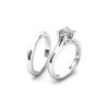 IMAGE OF 31-B167 ENGAGEMENT RINGS_CLASSIC MODERN FASHIONABLE BRIDAL RING YOUR CHOICE OF CENTER DIAMOND