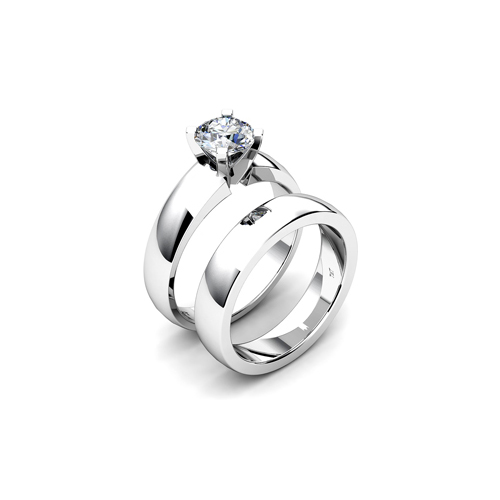 IMAGE OF 31-B169 ENGAGEMENT RINGS_CLASSIC MODERN FASHIONABLE BRIDAL RING YOUR CHOICE OF CENTER DIAMOND