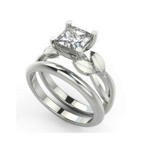 IMAGE OF 31-B172 ENGAGEMENT RINGS_CLASSIC MODERN FASHIONABLE BRIDAL RING YOUR CHOICE OF CENTER DIAMOND