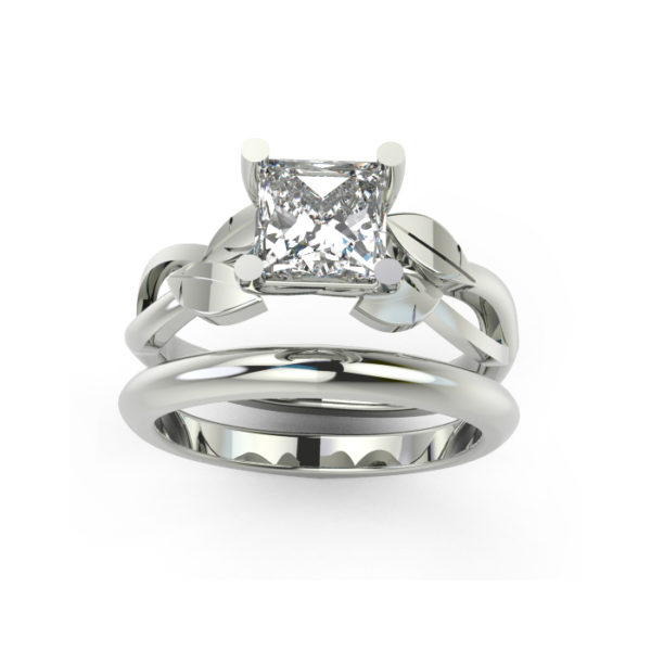 IMAGE OF 31-B172A ENGAGEMENT RINGS_CLASSIC MODERN FASHIONABLE BRIDAL RING YOUR CHOICE OF CENTER DIAMOND