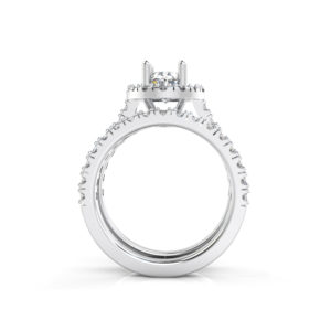 IMAGE OF 31-B174A ENGAGEMENT RINGS_ENGAGING BRIDAL RING WITH SIDE DIAMONDS OVAL CUT CENTER