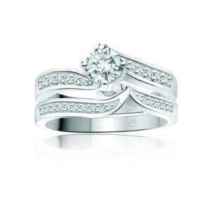 IMAGE OF 31-B183 IncomparIble ENGAGEMENT RINGS_CLASSIC MODERN FASHIONABLE BRIDAL RING