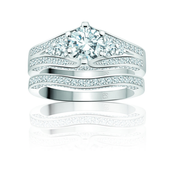 image of 31-B235 ENGAGEMENT RINGS_BRIDAL SETS WITH MATCHING BAND