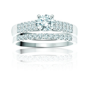 image of 31-B243 ENGAGEMENT RINGS_BRIDAL SETS WITH MATCHING BAND