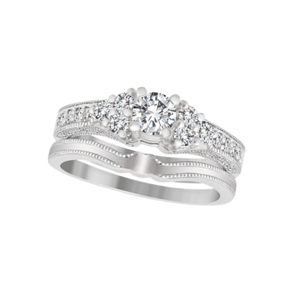 image of 31-B245 ENGAGEMENT RINGS_BRIDAL SETS WITH MATCHING BAND