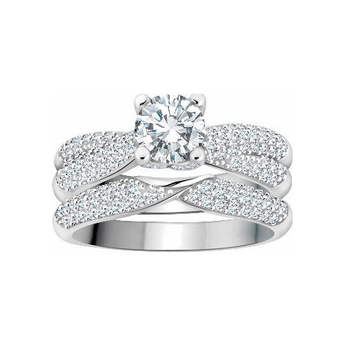 image of 31-B257 ENGAGEMENT RINGS_BRIDAL SETS WITH MATCHING BAND