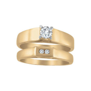 image of 31-B271 ENGAGEMENT RINGS_BRIDAL SETS WITH MATCHING BAND