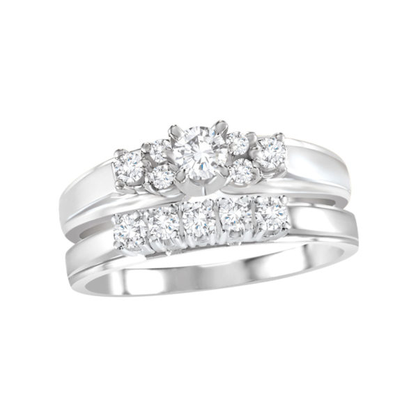 image of 31-B273 ENGAGEMENT RINGS_BRIDAL SETS WITH MATCHING BAND