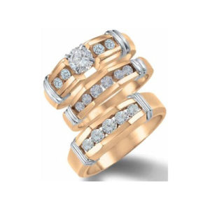 31-B274 ENGAGEMENT RINGS_BRIDAL SETS WITH MATCHING BAND AS TRIO