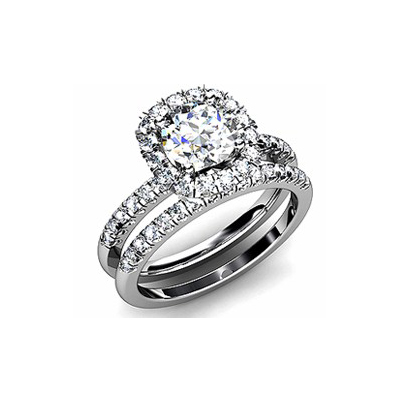 IMAGE OF 31-B275 ENGAGEMENT RINGS_BRIDAL SETS WITH MATCHING BAND HALO STYLE