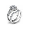 IMAGE OF 31-B277 ENGAGEMENT RINGS_BRIDAL SETS WITH MATCHING BAND HALO STYLE
