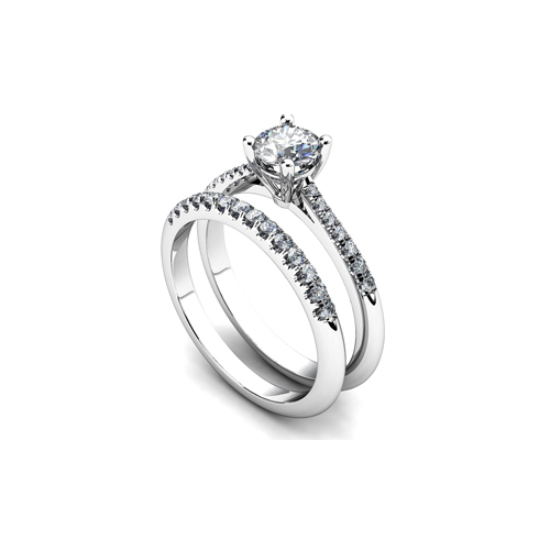 31-B307 ENGAGEMENT RINGS_BRIDAL SETS WITH MATCHING BANDS