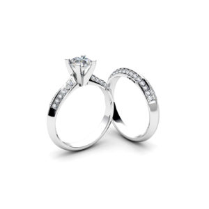 image of 31-B308 ENGAGEMENT RINGS_BRIDAL SETS WITH MATCHING BANDS