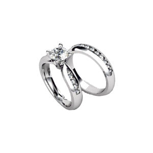 image of 31-B312 ENGAGEMENT RINGS_BRIDAL SETS WITH MATCHING BANDS