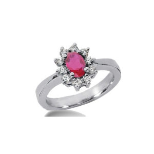 IMAGE OF 31-BH122 LADIES STONES RINGS_RUBY AND DIAMOND RING