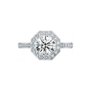 IMAGE OF 31-BR21 ENGAGEMENT RINGS_HALO STYLE WITH BRILLIANT CUT DIAMONDS