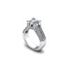 IMAGE OF 31-E35 ENGAGEMENT RING WITH SIDE STONES_ROUND CUT CENTER DIAMOND PLUS SIDE STONES