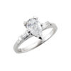 image of 31-E888 ENGAGEMENT RINGS_CLASSIC STYLE PEAR SHAPE DIAMOND ENGAGEMENT RING