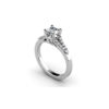 IMAGE OF 31-E936 ENGAGEMENT RING WITH SIDE STONES_ROUND CUT CENTRE DIAMOND PRONGE SET SIDE STONES