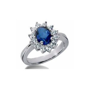 IMAGE OF 31-K123 LADIES STONES RINGS_SAPPHIRE AND DIAMOND RING