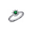 IMAGE OF 31-bh126 LADIES STONES RINGS_EMERALD AND DIAMOND RING