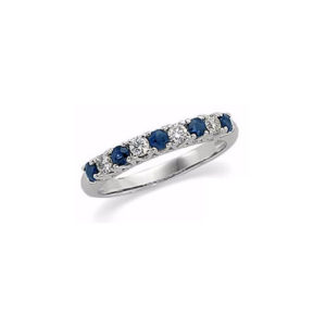 IMAGE OF 33-122S LADIES STONE RINGS_BLUE SAPPHIRES AND DIAMOND BAND