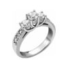 IMAGE OF 33-3501 ENGAGEMENT RING WITH SIDE STONES_ROUND CUT DIAMOND TRINITY RING