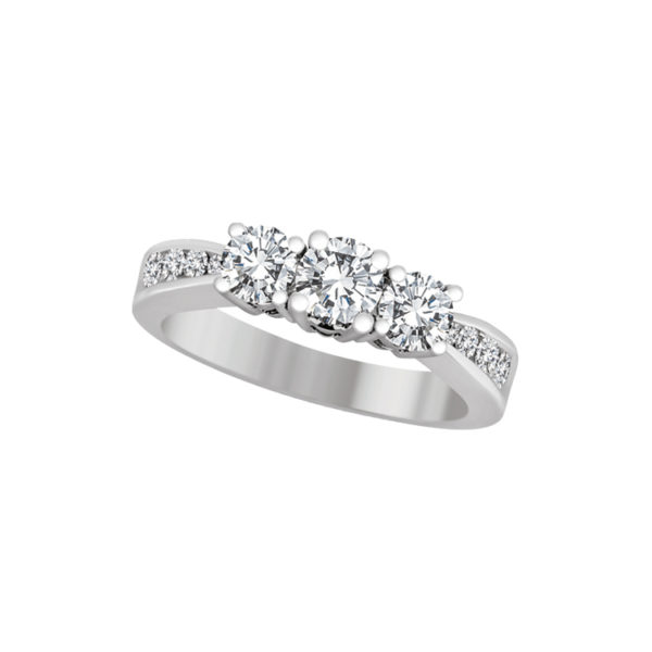 image of 33-3505 ENGAGEMENT RING WITH SIDE STONES_ROUND CUT DIAMOND TRINITY RING