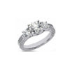 image of 33-359 ENGAGEMENT RING WITH SIDE STONES_ROUND CUT DIAMOND TRINITY RING