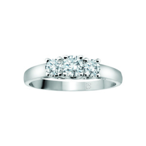 image of 33-TR100 TRINITY DIAMOND RING_ 3 STONE PRONG SET DIAMONDS