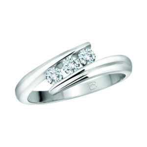 image of 33-TR101 TRINITY DIAMOND RING_ 3 STONE CHANNEL SET DIAMONDS