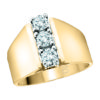 IMAGE OF 33-TR104 TRINITY DIAMOND RING_ 3 STONE PRONG SET DIAMONDS